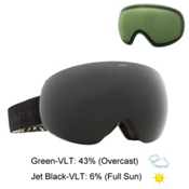 Electric EG3 Goggles, Backstage Pinecones Tan-Jet Bl + Bonus Lens, medium