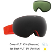 Electric EG3 Goggles, Solid Orange-Jet Black + Bonus Lens, medium