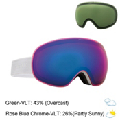 Electric EG3 Goggles 2016, Gloss White-Rose Blue Chrome + Bonus Lens, medium