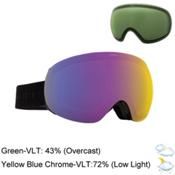 Electric EG3 Goggles, Gloss Black-Yellow Blue Chrom + Bonus Lens, medium