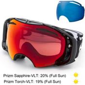 Oakley Airbrake Prizm Goggles, Jet Black-Prizm Torch Iridium + Bonus Lens, medium
