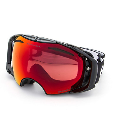 Oakley Airbrake Prizm Goggles, Polished White-Prizm Torch Iri + Bonus Lens, viewer