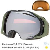 Oakley Airbrake Prizm Goggles 2016, Tagline Gunmetal-Prizm Black I + Bonus Lens, medium