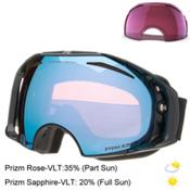 Oakley Airbrake Prizm Goggles, Jet Black-Prizm Sapphire Iridi + Bonus Lens, medium