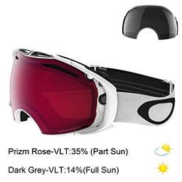 Oakley Airbrake Prizm Goggles, Polished White-Prizm Rose + Bonus Lens, 256