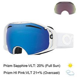 Oakley Airbrake Prizm Goggles, Factory Pilot Whiteout-Prizm S + Bonus Lens, 256