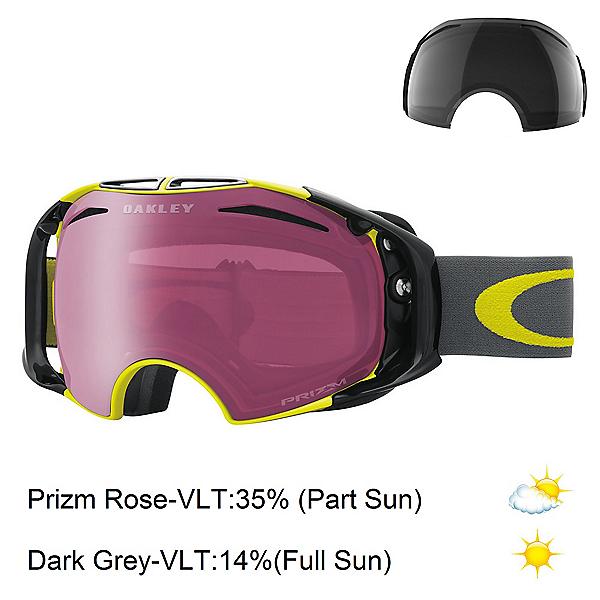 Oakley Airbrake Prizm Goggles, Citrus Iron-Prizm Rose + Bonus Lens, 600