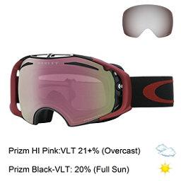 Oakley Airbrake Prizm Goggles, Iron Fired Brick-Prizm Hi Pink + Bonus Lens, 256