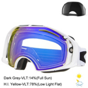 Oakley Airbrake Goggles 2016, Polished White-Hi Yellow + Bonus Lens, medium