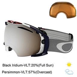 Oakley Airbrake Goggles, Usa Olympic-Black Persimmon + Bonus Lens, 256
