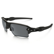 Oakley Flak 2.0 XL Polarized Sunglasses, Polished Black-Black Iridium Polarized, medium