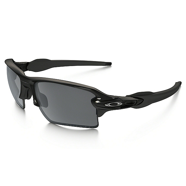 Oakley Flak 2.0 XL Polarized Sunglasses, Polished Black-Black Iridium Polarized, 600