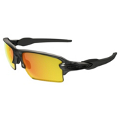 Oakley Flak 2.0 XL Polarized Sunglasses, Matter Gray Smoke-Fire Iridium Polarized, medium