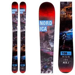 Nordica Ace Jr. Kids Skis, Black, 256