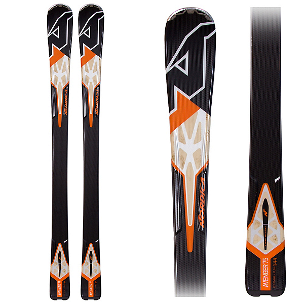 Nordica Avenger 75 Skis, Black-Orange, 600