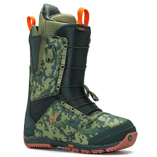 Burton Ruler Snowboard Boots, Green-Camo, 600