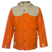 Burton Folsom Mens Shell Snowboard Jacket, Maui Sunset-Grayeen, medium