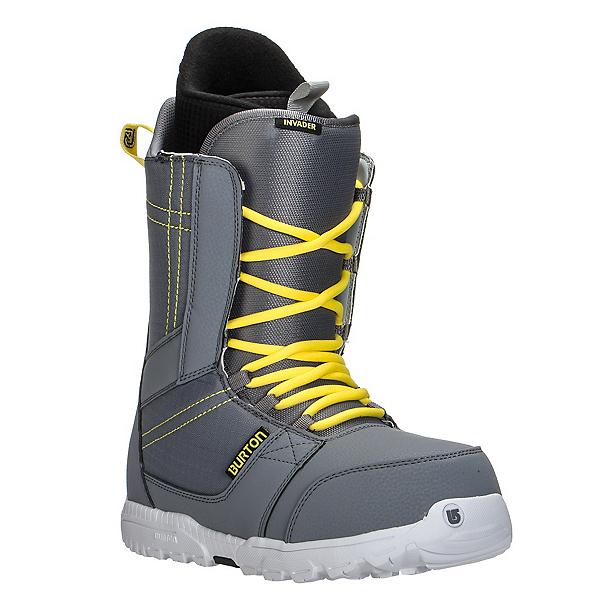 Burton Invader Snowboard Boots, Gray-Yellow, 600