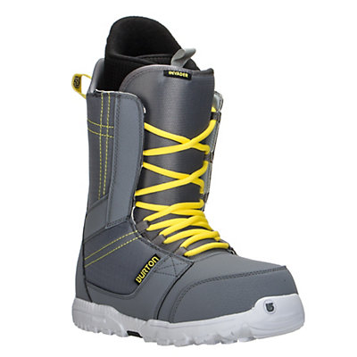Burton Invader Snowboard Boots, Gray-Yellow, viewer