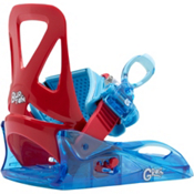 Burton Grom Kids Snowboard Bindings 2017, Red-Blue, medium