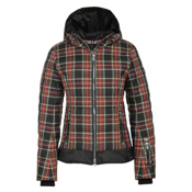 Bogner Leya D Womens Insulated Ski Jacket, Black Tartan Plaid, medium