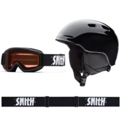 Smith Zoom and Sidekick Combo Kids Helmet 2016, Black, medium