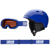 Smith Zoom and Sidekick Combo Kids Helmet 2016, Cobalt, medium