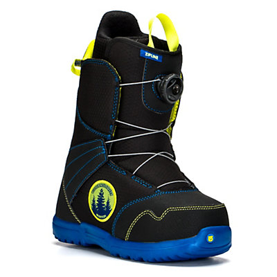 Burton Zipline Boa Kids Snowboard Boots, Black-Blue, viewer