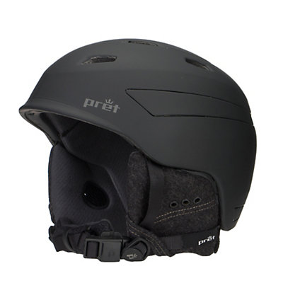 Pret Effect Helmet, Rubber Jet Black, viewer