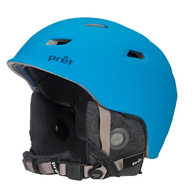 Pret Shaman Helmet, Rubber Jet Black, viewer