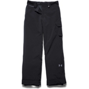 Under Armour ColdGear Infrared Hacker Kids Ski Pants, Black-Steel, medium