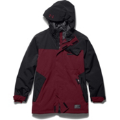 Under Armour ColdGear Infrared Hacker Boys Ski Jacket, Deep Red-Black, medium