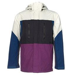 Burton Breach Mens Insulated Snowboard Jacket, Sawed Off Block, 256