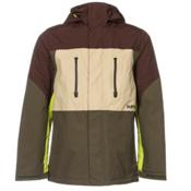 Burton Breach Mens Insulated Snowboard Jacket, Mocha Block, medium