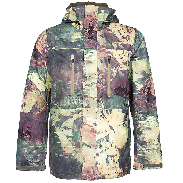 Burton Breach Mens Insulated Snowboard Jacket, Sandy Scars Satellite Series, 600
