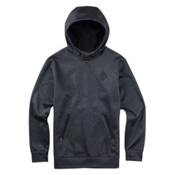 Burton Crown Bonded Pullover Hoodie, True Black Heather, medium