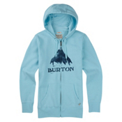 Burton Stamped Mountain Full Zip Womens Hoodie, Cancun Heather, medium