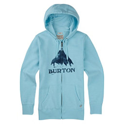 Burton Stamped Mountain Full Zip Womens Hoodie, Cancun Heather, 256