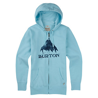 Burton Stamped Mountain Full Zip Womens Hoodie, True Black Heather, viewer