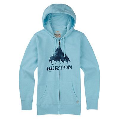 Burton Stamped Mountain Full Zip Womens Hoodie, True Black Heather, viewer