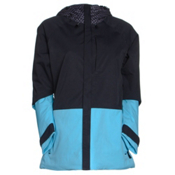 Burton Radar Womens Insulated Snowboard Jacket, Mini Checkerboard-True Black-Ultra Blue, medium