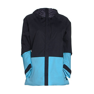 Burton Radar Womens Insulated Snowboard Jacket, Mini Checkerboard-True Black-Ultra Blue, viewer