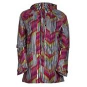 Burton Radar Womens Insulated Snowboard Jacket, Rainbow Chevron, medium