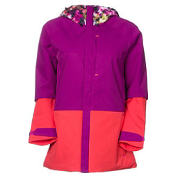 Burton Radar Womens Insulated Snowboard Jacket, Pixel Floral-Grapeseed-Tropic, 256