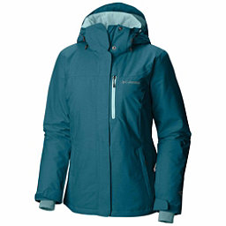 Columbia Alpine Action Plus Womens Insulated Ski Jacket, Aegean Blue Crossdye-Aqua Haze, 256