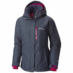 Columbia Alpine Action Plus Womens Insulated Ski Jacket, Nocturnal Crossdye-Deep Blush, 256