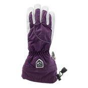 Hestra Heli Glove Womens Gloves, Dark Plum-Off White, medium
