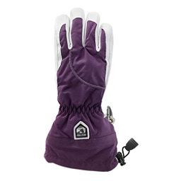 Hestra Heli Glove Womens Gloves, Dark Plum-Off White, 256