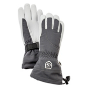Hestra Heli Glove Womens Gloves, Grey-Off White, medium