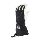 Hestra Heli Womens Gloves, Black-Off White, medium